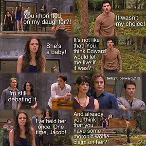 Bella gets mad at Jake