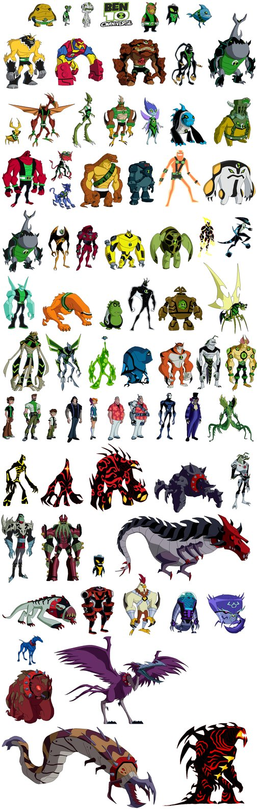 Pin Ben 10 Omniverse Characters Alien Force