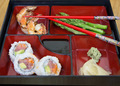 Bento box with sushi