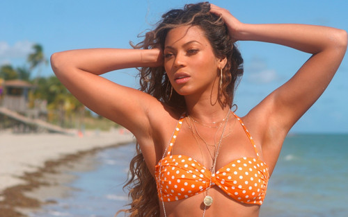 Beyoncé hình nền with a bikini called Beyoncé Sports Illustrated 2007