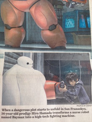 Big Hero 6 in Usa Today Newspaper