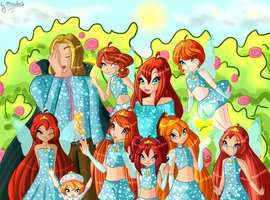 The Winx Club wallpaper titled Bloom's and Sky's Family