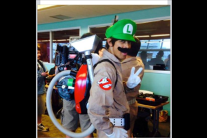 "Boo/ Ghostbuster Luigi: ""Peace out, Pisanos!"""