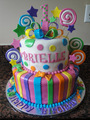 Brielle's cake - candy-land photo