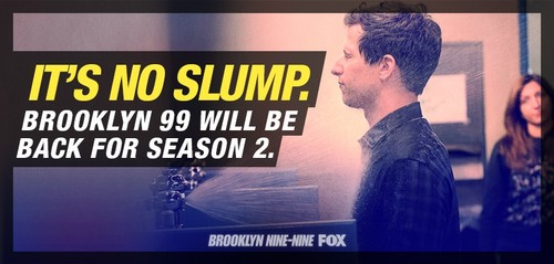 Brooklyn Nine-Nine karatasi la kupamba ukuta with a televisheni receiver entitled Brooklyn nine-nine