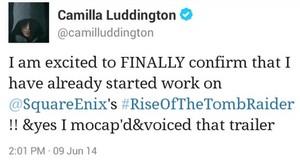 Camilla Luddington Lara Croft.