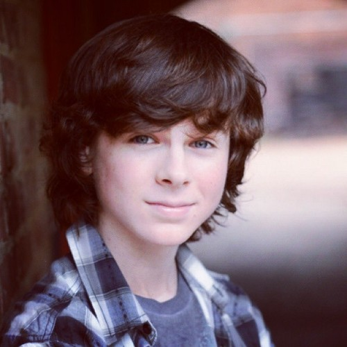 Chandler Riggs Hintergrund possibly with an outerwear and a portrait titled Chandler ❤