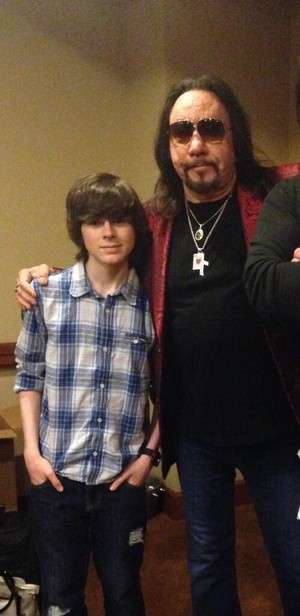 Chandler with Ace Frehley from KISS!