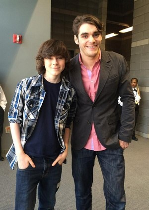 Chandler with Breaking Bad's RJ Mitte