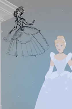 cenicienta Concept Art vs. Final
