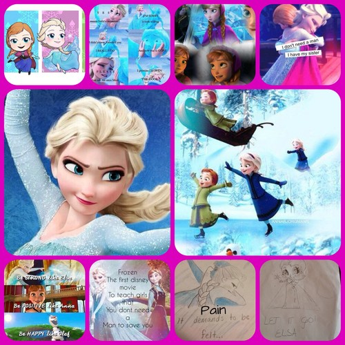 Frozen wallpaper titled Collage on ELSANNA