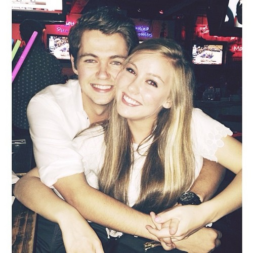 Damian McGinty wallpaper containing a portrait entitled Damian and his girlfriend in New York