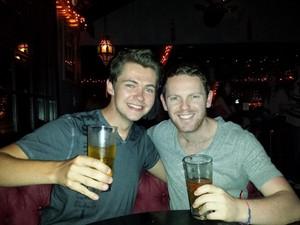 Damian and his mate Jonny
