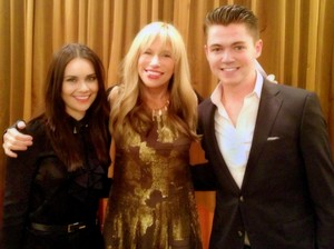Damian with Mairead Carlin and Carly Simon