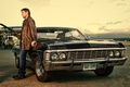 Dean and the Impala - supernatural wallpaper