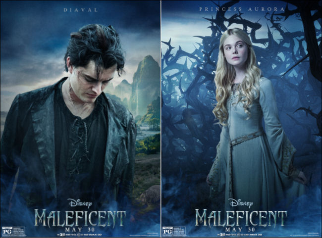 Diaval And Princess Aurora Maleficent Maleficent 2014