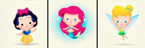 Walt Disney tagahanga Art - Princess Snow White, Princess Ariel & Tinker kampanilya