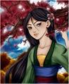 Disney Princess, Mulan - disney fan art