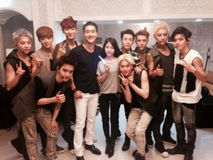 exo with Siwon and BoA