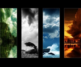 The Four Elements پیپر وال possibly with a sunset called Earth, air, water, آگ کے, آگ