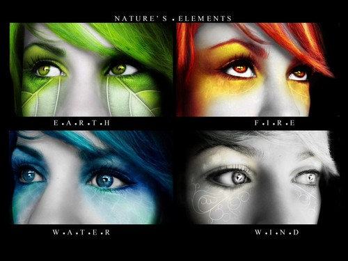 The Four Elements wallpaper entitled Earth, fire, water, air