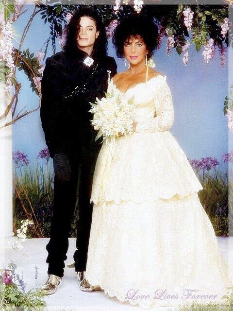 michael jackson images elizabeth taylors wedding back in