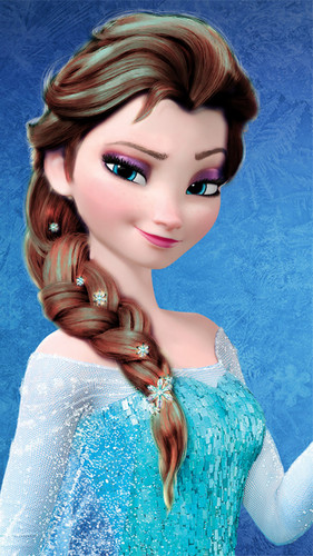 Холодное сердце Обои containing a portrait titled Elsa - Brown Hair Color