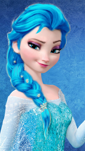 frozen fondo de pantalla called Elsa - Darker Light Blue Hair Color