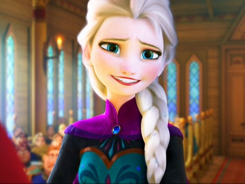Frozen wallpaper titled Elsa Hair Down, Coronation Dress