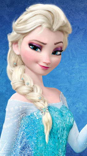 Frozen kertas dinding possibly containing a portrait titled Elsa - Original Hair Color