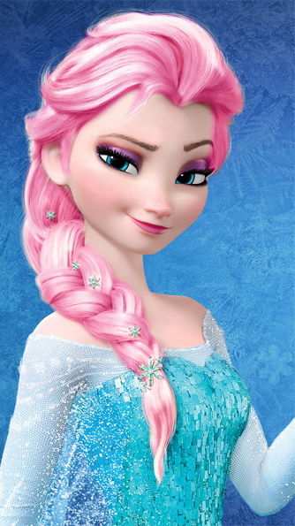 Elsa - merah jambu Hair Color