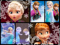 Elsa and Anna Collage