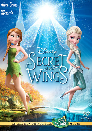 Frozen kertas dinding titled Elsa and Anna in Secret of the Wings