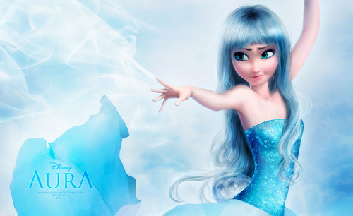 Frozen wallpaper possibly containing a cocktail dress, a bustier, and a portrait titled Elsa as Aura