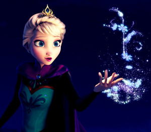 Elsa sings Let It Go