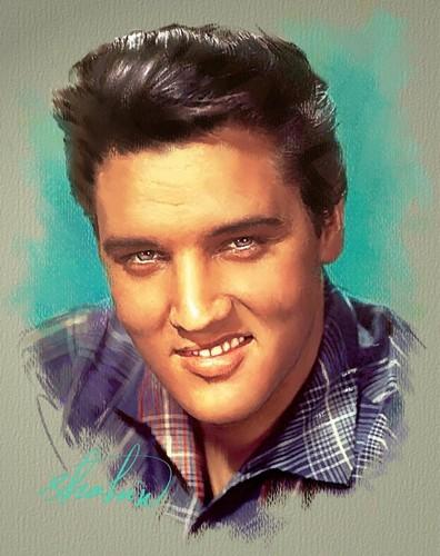 मशहूर हस्तियों जो जवान मारे गए वॉलपेपर with a portrait entitled Elvis Presley