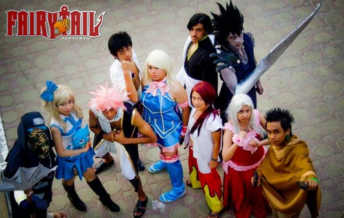 Fairy Tail Cosplay karatasi la kupamba ukuta probably with a bridesmaid entitled Fairy Tail Cosplay