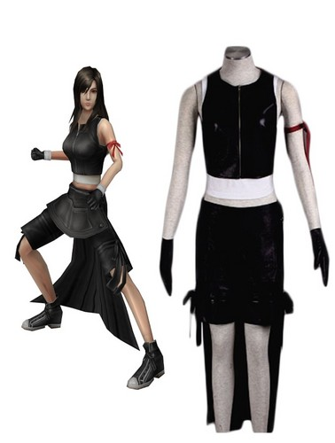 Final Fantasy VII پیپر وال probably containing a legging, a well dressed person, and a hip boot called Final Fantasy VII Tifa Lockhart Cosplay Costume