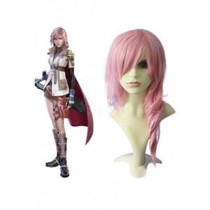Final fantasía lightning cosplay wig