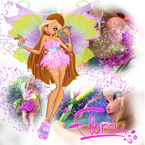 Winx Club fond d'écran with a bouquet, a rose, and a rose titled Flora Mythix