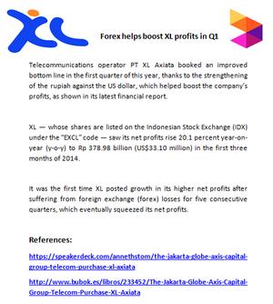 Forex helps boost XL profits in Q1