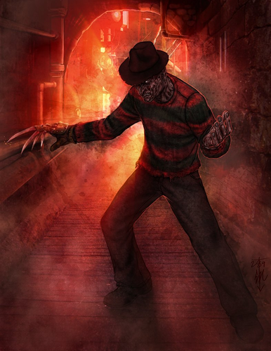 Canada24's club.. fondo de pantalla possibly containing a fedora, a fire, and a boater titled Freddy Krueger
