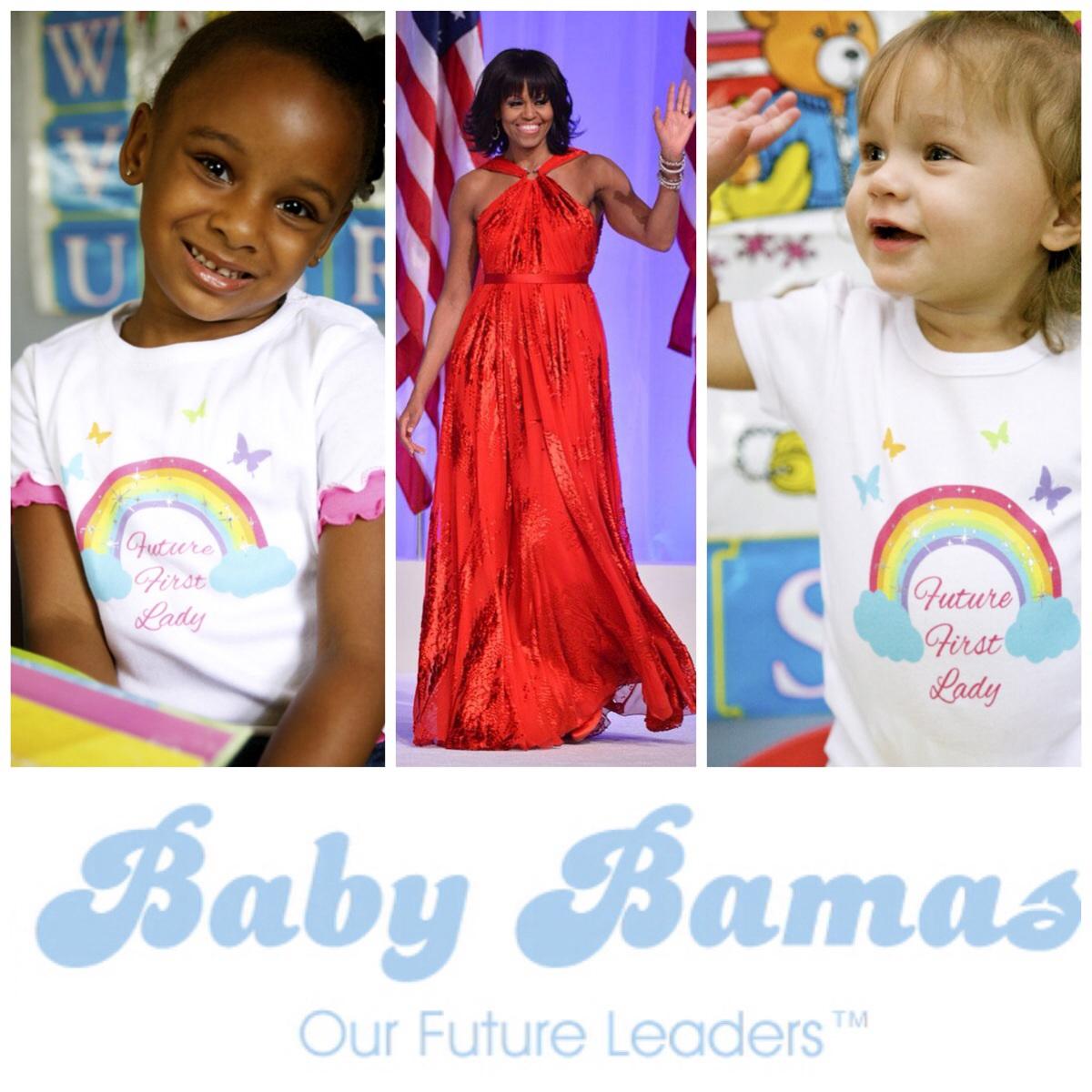 Future First Lady pelangi onesie