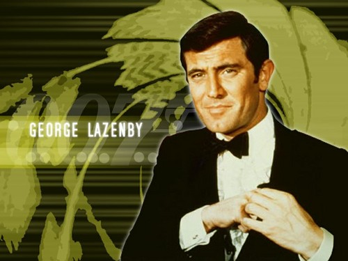 James Bond fond d'écran with a business suit entitled George Lazenby