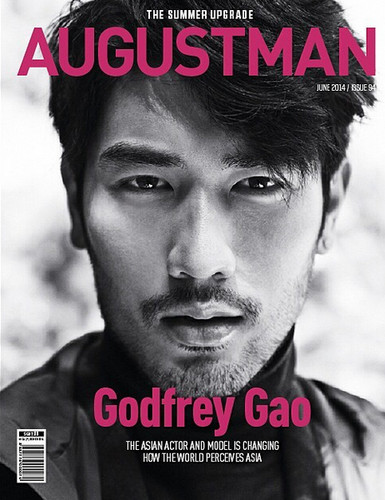 Godfrey Gao 壁纸 possibly with a full dress uniform, 韦翰, 团, 佩带, and a portrait titled Godfrey for August Man