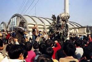 Godzilla vs Hedorah Publicity Stunt