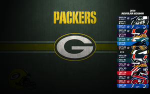 Green bay Packers Schedule 2014 kertas dinding V2