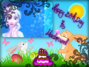 Happy Birth دن to my Dear Fiend Madmozel.