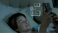 Hazel texting Gus,TFIOS