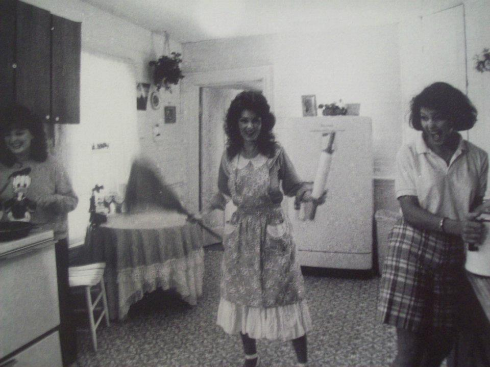 Here are a 19 year old Wy and a 15 year old Ashley in the kitchen of their Del Rio Pike home